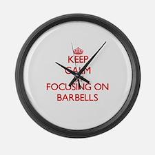 Barbells Large Wall Clock