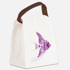 Purple Angel Fish Canvas Lunch Bag