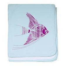 Purple Angel Fish baby blanket