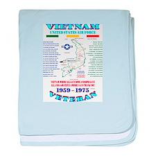 VIETNAM WAR: AIR FORCE UNIT & OPERATI baby blanket