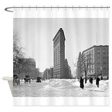 Flatiron Building Winter Scene, 190 Shower Curtain