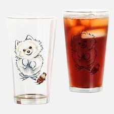 Pomeranian Boo Drinking Glass