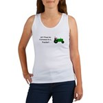Green Christmas Tractor Women's Tank Top