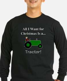 Green Christmas Tractor T