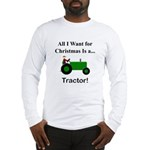 Green Christmas Tractor Long Sleeve T-Shirt