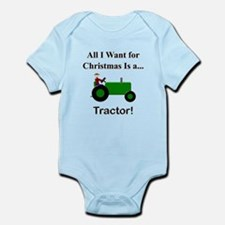 Green Christmas Tractor Infant Bodysuit