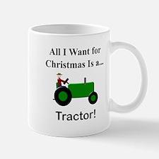 Green Christmas Tractor Mug