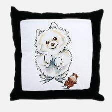 Pomeranian Boo Throw Pillow