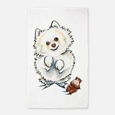 Pomeranian Boo 3'x5' Area Rug
