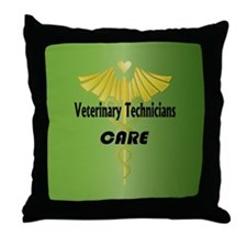 Veterinary Technicians Care Throw Pillow