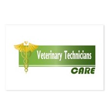 Veterinary Technicians Care Postcards (Package of
