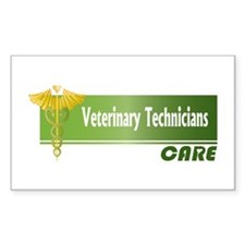 Veterinary Technicians Care Rectangle Decal