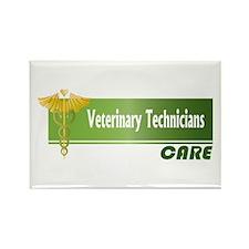 Veterinary Technicians Care Rectangle Magnet