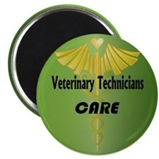 """Veterinary Technicians Care 2.25"""" Magnet (100 pack"""