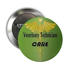 Veterinary Technicians Care Button
