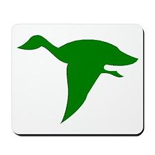 Green Duck Flying Mousepad
