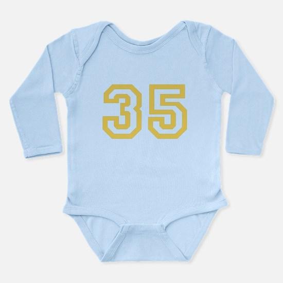 GOLD #35 Long Sleeve Infant Bodysuit