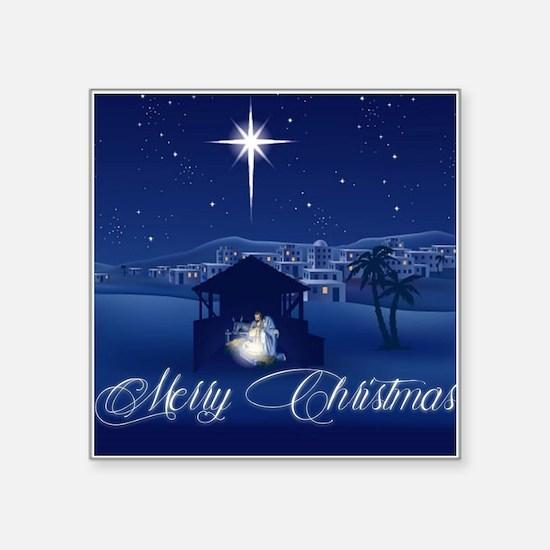 Merry Christmas Nativity Sticker