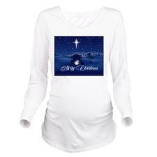 Merry Christmas Nati Long Sleeve Maternity T-Shirt