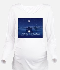Merry Christmas Nati Long Sleeve Maternity T-Shirt