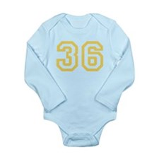 GOLD #36 Long Sleeve Infant Bodysuit