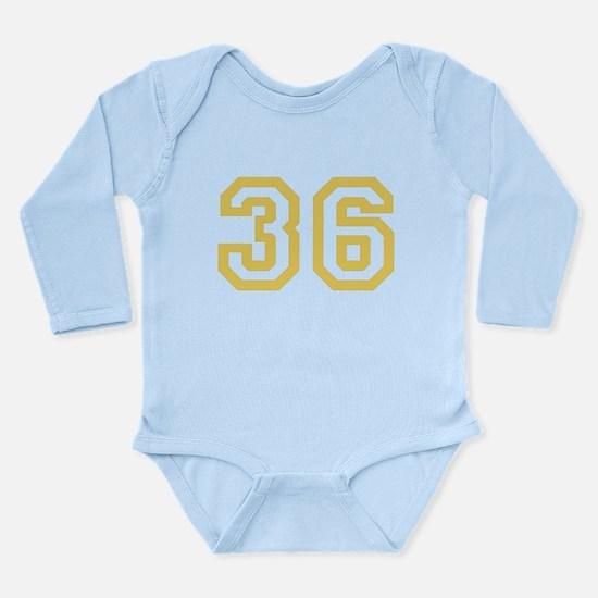 GOLD #36 Long Sleeve Infant Bodysuit