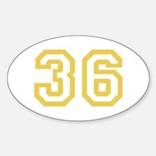 GOLD #36 Decal