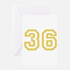 GOLD #36 Greeting Cards (Pk of 10)