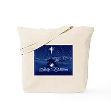 Merry Christmas Nativity Tote Bag