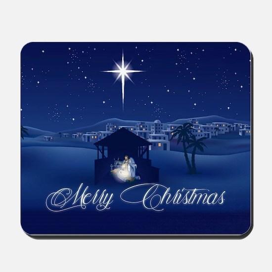 Merry Christmas Nativity Mousepad