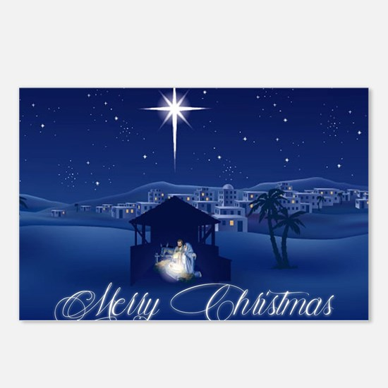 Merry Christmas Nativity Postcards (Package of 8)