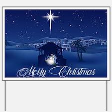 Merry Christmas Nativity Yard Sign