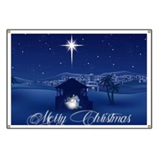 Merry Christmas Nativity Banner