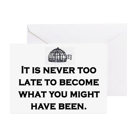 NEVER TOO LATE Greeting Cards (Pk of 10)