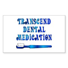 The Oral Meditation Rectangle Decal