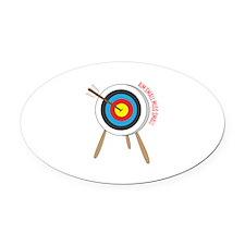 Aim Small Oval Car Magnet