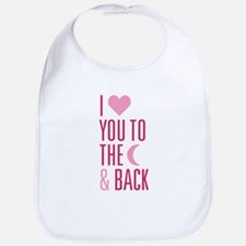 The Moon and Back Bib