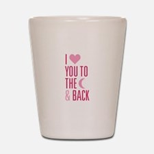 The Moon and Back Shot Glass