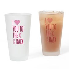 The Moon and Back Drinking Glass