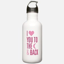The Moon and Back Water Bottle