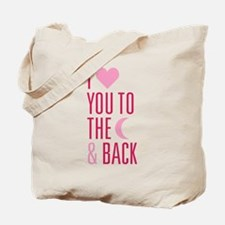 The Moon and Back Tote Bag