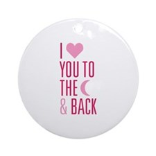 The Moon and Back Ornament (Round)