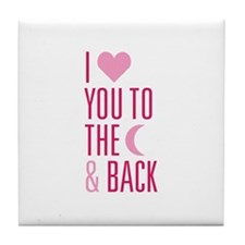 The Moon and Back Tile Coaster