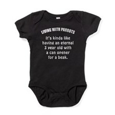 Living With Parrots Baby Bodysuit