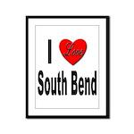 I Love South Bend Framed Panel Print