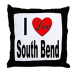 I Love South Bend Throw Pillow