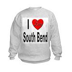 I Love South Bend (Front) Kids Sweatshirt