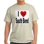 I Love South Bend (Front) Light T-Shirt