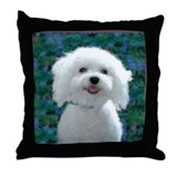 Bichon frise Throw Pillows