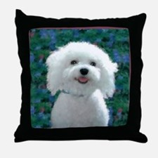 Bichon Frise Charmer Throw Pillow